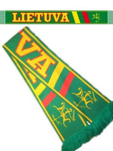 Megztas šalikas su Lietuva su stilizuotu Vyčiu