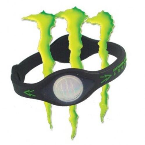 """Originali """"Monster Energy"""" silikoninę apyrankė su 2 įmontuotomis hologramomis"""